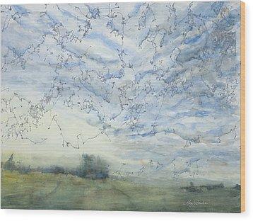 Silver Sky Wood Print
