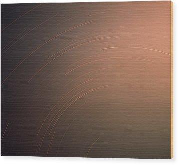 Silver Star Dial Wood Print by Benjamin Garvey