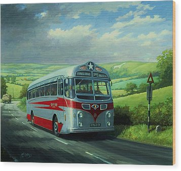 Silver Star Leyland Coach Wood Print by Mike  Jeffries