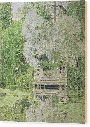 Silver White Willow Wood Print by Aleksandr Jakovlevic Golovin