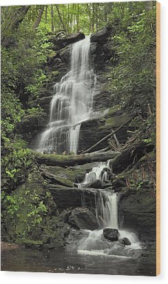 Silverspray Falls Wood Print by Stephen  Vecchiotti