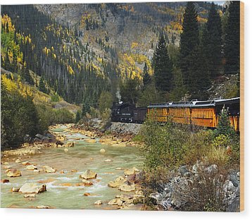 Wood Print featuring the photograph Silverton Bound by Kurt Van Wagner