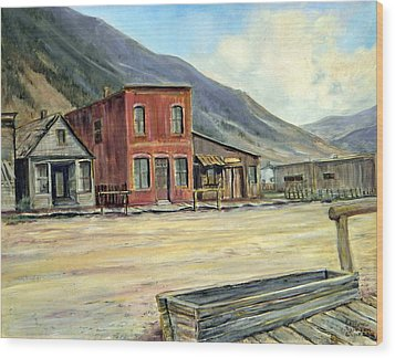 Silverton Colorado Wood Print by Evelyne Boynton Grierson
