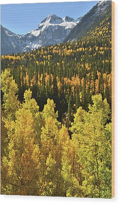 Wood Print featuring the photograph Silverton Mountainscape by Ray Mathis