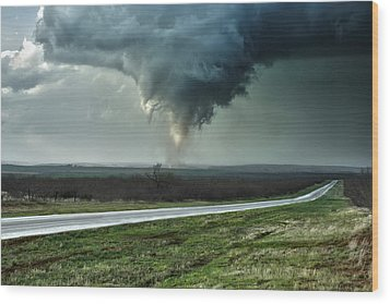 Wood Print featuring the photograph Silverton Texas Tornado 2 by James Menzies