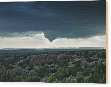 Silverton Texas Tornado Forms Wood Print