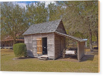 Simmons Cabin Built In 1873 In Orange County Florida Wood Print by Allan  Hughes