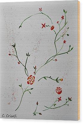 Simple Flowers #1 Wood Print