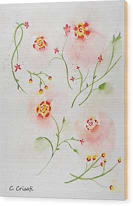 Simple Flowers #2 Wood Print