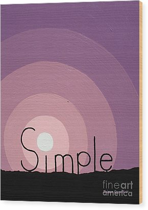Simple Wood Print by Jaison Cianelli