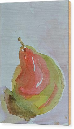 Wood Print featuring the painting Simple Pear by Beverley Harper Tinsley
