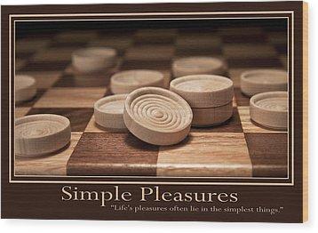 Simple Pleasures Poster Wood Print by Tom Mc Nemar