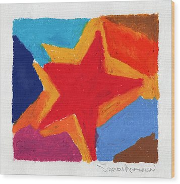 Simple Star Wood Print by Stephen Anderson