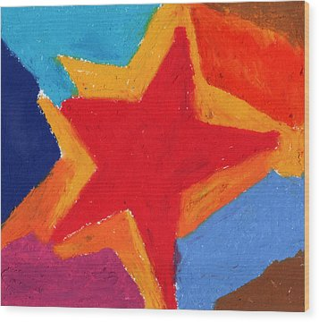 Simple Star-straight Edge Wood Print by Stephen Anderson