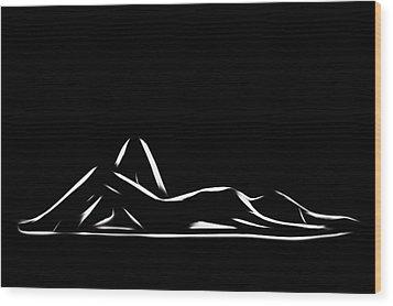 Simply Beautiful Wood Print by Steve K
