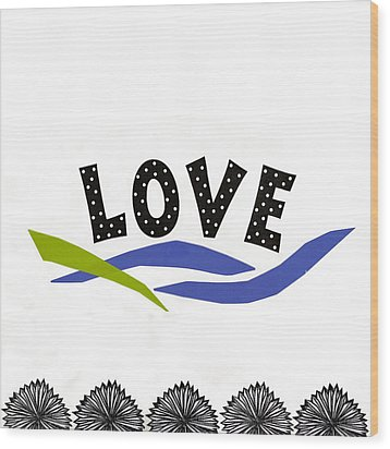 Wood Print featuring the mixed media Simply Love by Gloria Rothrock