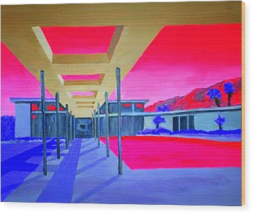 Sinatra House Four Wood Print by Randall Weidner