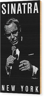 Sinatra W Sig Wood Print by Dan Menta