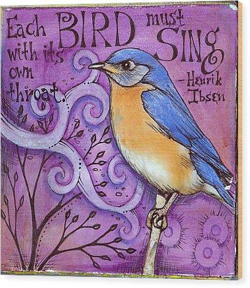 Sing Wood Print by Vickie Hallmark