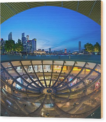 Wood Print featuring the photograph Singapore - Marina Bay Sands by Ng Hock How