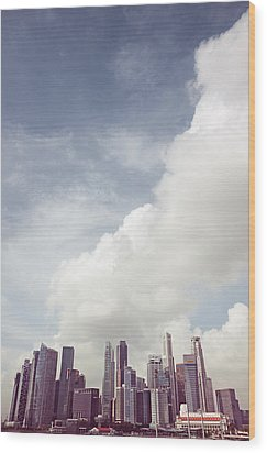 Wood Print featuring the photograph Singapore Cityscape by Joseph Westrupp