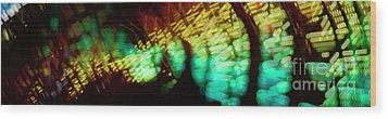 Wood Print featuring the photograph Singapore Night Urban City Light - Series - Your Singapore by Urft Valley Art