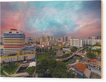 Singapore Rochor Commercial And Residential Mixed Area Wood Print by David Gn