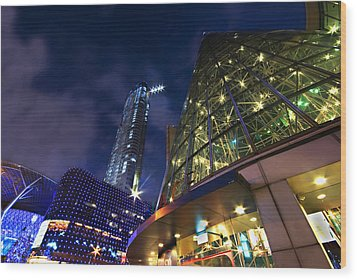 Wood Print featuring the photograph Singapore Shopping Paradise by Ng Hock How