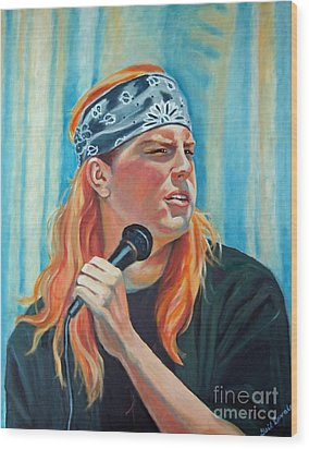 Singer For The Band Wood Print by Gail Zavala