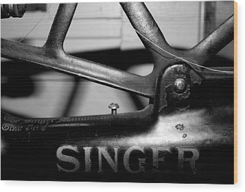 Singer Wood Print by Gina  Zhidov