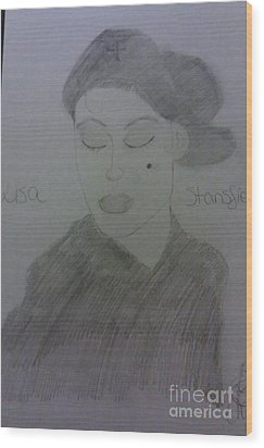 Singer Lisa Stanfield Wood Print