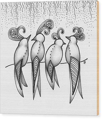 Singin' In The Rain Wood Print by Jan Steinle