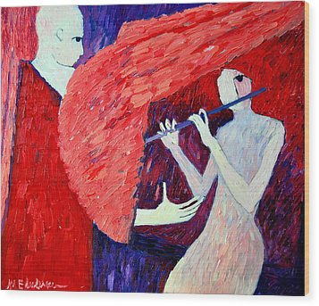 Singing To My Angel 1 Wood Print by Ana Maria Edulescu