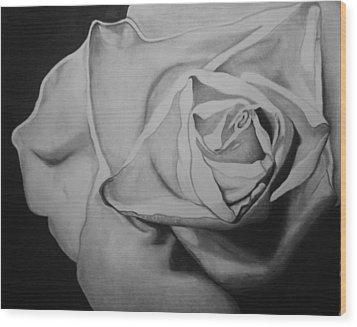 Single Rose Wood Print by Jason Dunning