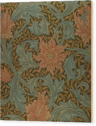 'single Stem' Wallpaper Design Wood Print by William Morris