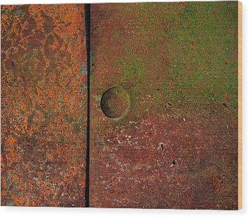 Singular ...raw Steel Wood Print by Tom Druin