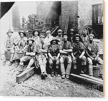 Sinkers,rossington Colliery,1915 Wood Print
