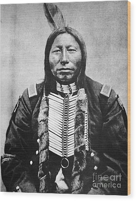 Sioux: Crow King Wood Print by Granger