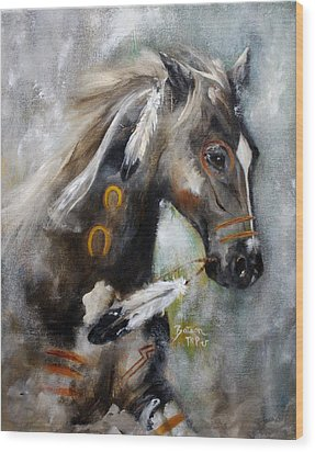 Sioux War Pony Wood Print