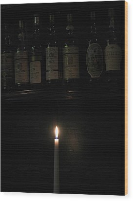 Sipping By Candlelight Wood Print by Staci-Jill Burnley