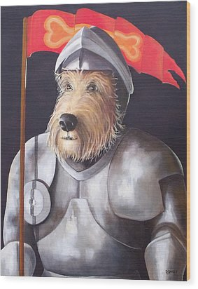 Sir Barksalot Wood Print