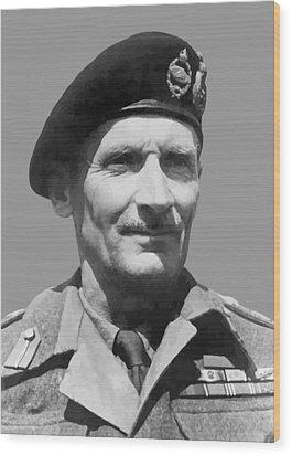 Sir Bernard Law Montgomery  Wood Print by War Is Hell Store