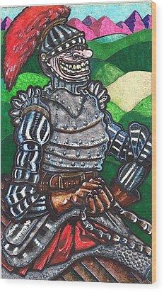 Sir Bols The Black Knight Wood Print by Al Goldfarb