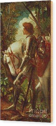 Sir Galahad Wood Print by George Frederic Watts