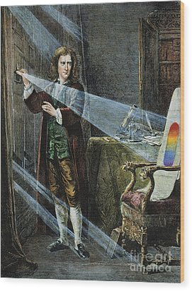 Sir Isaac Newton Wood Print by Granger