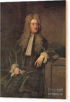 Sir Isaac Newton  Wood Print by Sir Godfrey Kneller