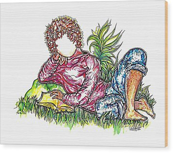 Sir Sage Wood Print by Judith Herbert