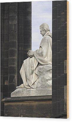Sir Walter Scott Statue Wood Print by Mike McGlothlen