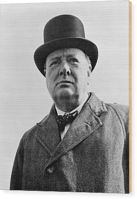 Sir Winston Churchill Wood Print by War Is Hell Store