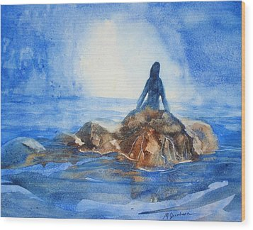 Siren Song Wood Print by Marilyn Jacobson